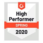 G2 Crowd - Sales Analytics Software High Performer
