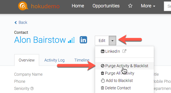 Blacklist Contacts from being Auto Captured to Salesforce